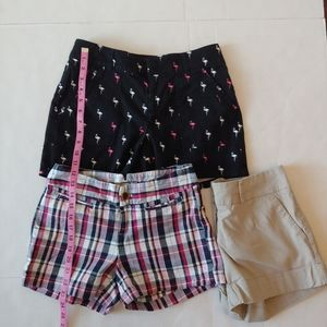 2 Pairs Banana Republic Flamingo Plaid Shorts Sz 0